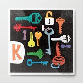 """""""K"""" Metal Print"""