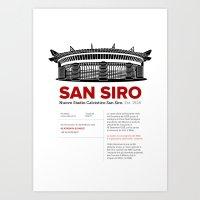 San Siro - History & Fact Art Print