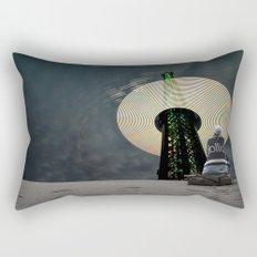 Digital Waves Rectangular Pillow