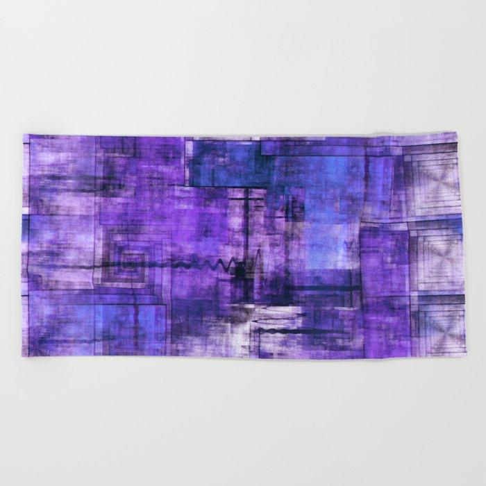 Purple Noise Beach Towel