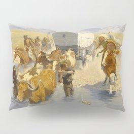 "Frederic Remington Western Art ""The Emigrants"" Pillow Sham"