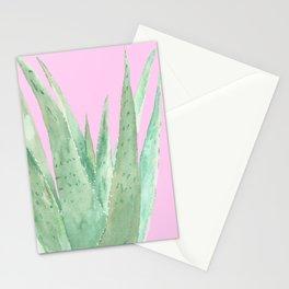 Aloe Vera isolated, transparent background Stationery Cards