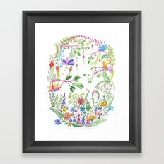 Bucolic forest Framed Art Print