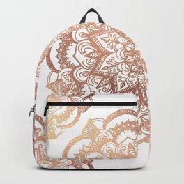 Mandala Rose-Gold Shine Backpack