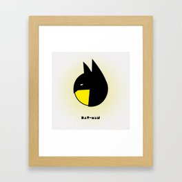 bat-man or pac-man? Framed Art Print