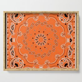 Orange oriental design Serving Tray