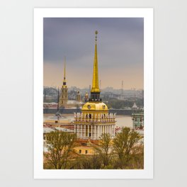 Saint Petersburg Admiralty Art Print