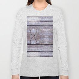 Cracked Wood Photo Long Sleeve T-shirt