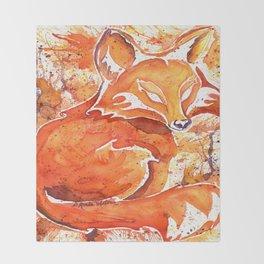 Fox (Spirit of the...) Throw Blanket