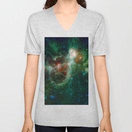 The Heart and Soul nebulae (NASA's Wide-field Infrared Survey Explorer) Unisex V-Neck