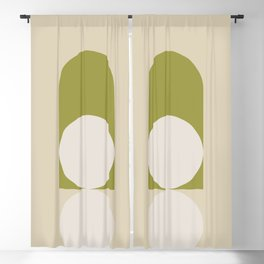 Contemporary Composition 05 - Golden Lime Blackout Curtain