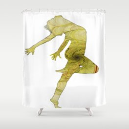 The dancer 01 Shower Curtain