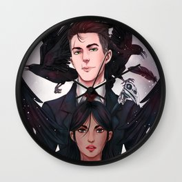 Inej & Kaz Wall Clock