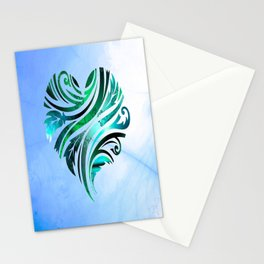 Cheerful Heart (blue-green) Stationery Cards
