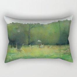 Deeper Green Rectangular Pillow