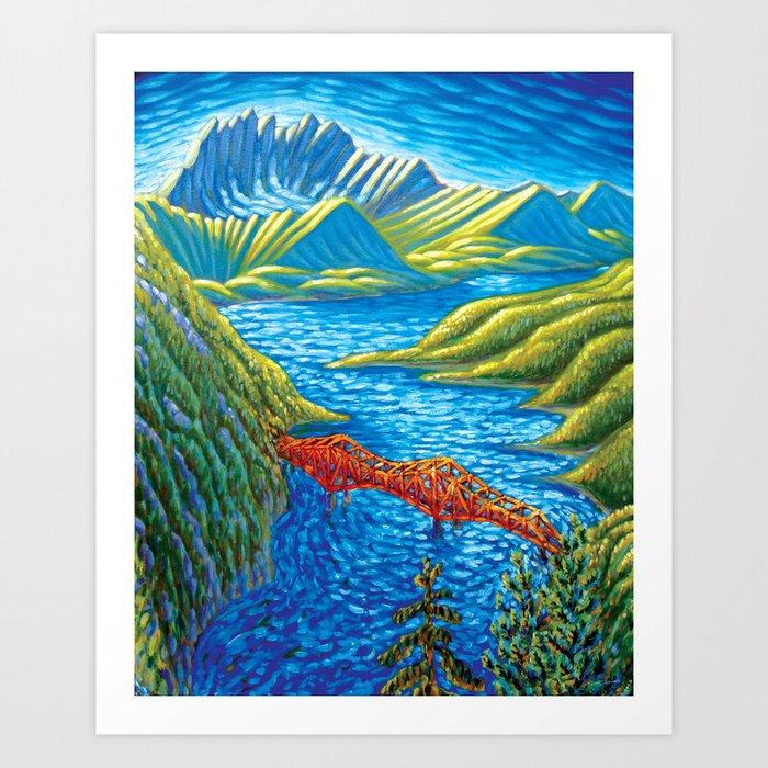 Bridge 2 Art Print