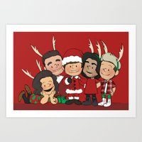liam payne Art Prints featuring It's Christmas, Liam Payne by Ashley R. Guillory