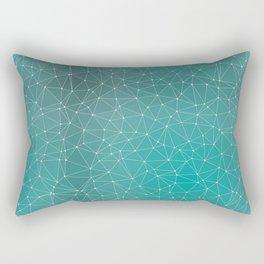 Triangulated Marrs Green Dotted Pattern Rectangular Pillow