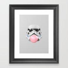 Stormtrooper Bubble Gum Framed Art Print