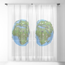 Data Earth Sheer Curtain