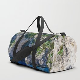 The White Grotto of the island of Capri, Italy off Naples and the Amalfi Coast Duffle Bag