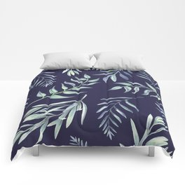 Floating Leaves Blue 2 #society6 #buyart Comforters