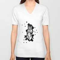 bubble V-neck T-shirts featuring Bubble by L'enfant Sauvage