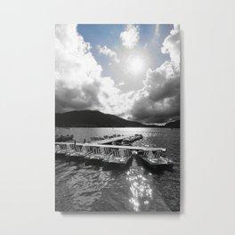 Gerardmer Lake France pedal boats Metal Print