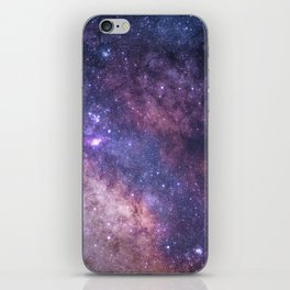 Purple Galaxy Star Travel iPhone Skin