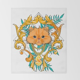 Chichi, the cat Throw Blanket