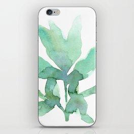 peony leaf iPhone Skin