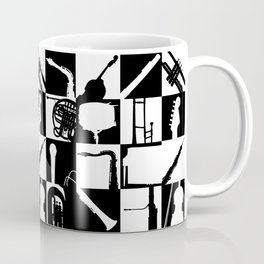 Pop Music Art B&W Coffee Mug