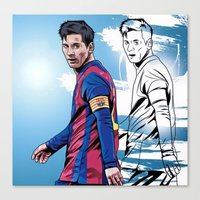messi Canvas Prints featuring Messi by FootyDezigns