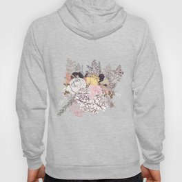 Miles and miles of rose garden. Retro floral pattern in vintag style Hoody
