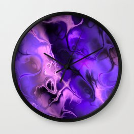 The Love For Violet Purple - Fractal Art Wall Clock