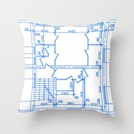 Architectural background Throw Pillow