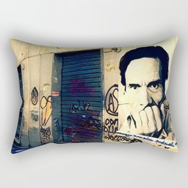 Street Art Pasolini in Rome Rectangular Pillow