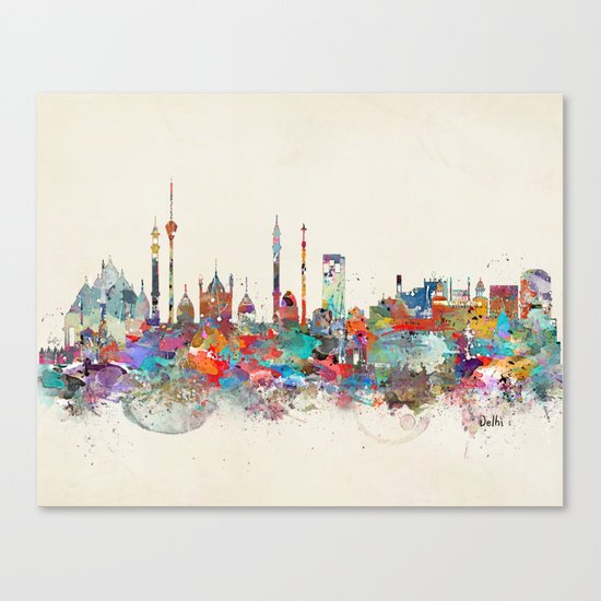 Delhi india skyline Canvas Print
