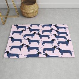 Cute Dachshund Dogs Rug