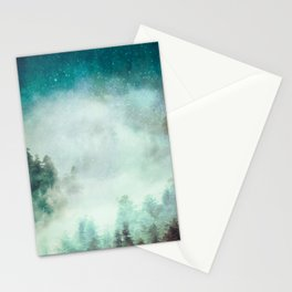 Galaxy Forest Stationery Cards