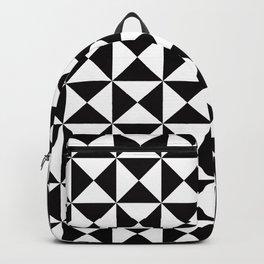 Geometric Pattern #45 (black white triangles) Backpack