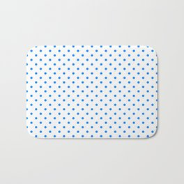 Dots (Azure/White) Bath Mat