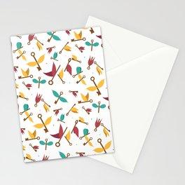 flying keys Stationery Cards