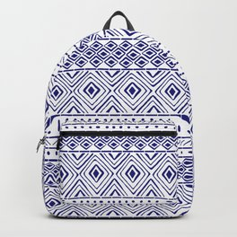 African Mud Cloth // Blue Backpack