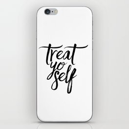Wall Decor Watercolor Dorm Wall Art Parks and Recreation Print Treat Yo Self Print Funny Quote Print iPhone Skin