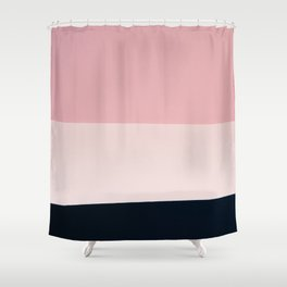 Pink & Naval & Rose Abstract Background Shower Curtain