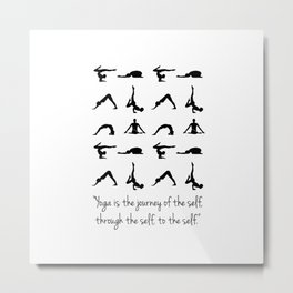 YOGA QUOTES Metal Print