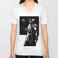 engineer V-neck T-shirts featuring Zampata Engineer by ClayBrooks