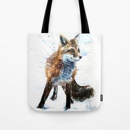 Fox watercolor Tote Bag