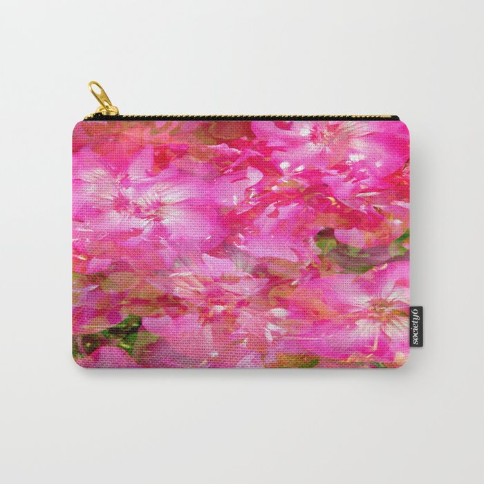 Bright And Cheery Geranium Abstract Carry-All Pouch